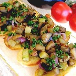 Veggie Delight on Garlic Bread