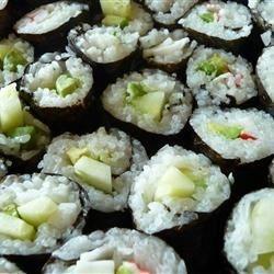 Cucumber and Avocado Sushi