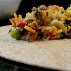 Southwest Breakfast Burritos