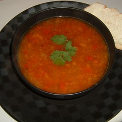 Rainbow Roasted Pepper Soup