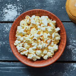 Spicy Popcorn with Sriracha and Lime