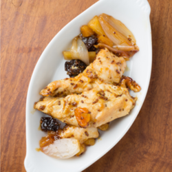 Slow Cooker Moroccan-Style Chicken with Almonds and Apricots