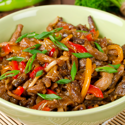 Pork Stir-Fry with Tangy Tangelo