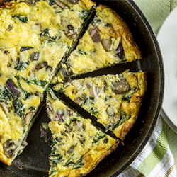 Spinach Frittata with Goat Cheese