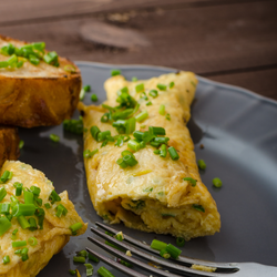 Garlic Scapes Omelet