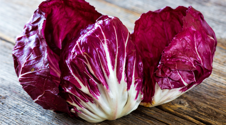 Radicchio deepens the taste of dishes with sweet and starchy ingredients