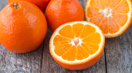 Tangelo is a cross-breed between a pomelo and a tangerine