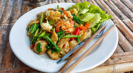 Bok Choy Stir Fry with Snow Peas and Shrimp