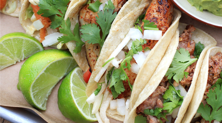 Asian-Style Tacos with Halibut Fillets and Napa Cabbage