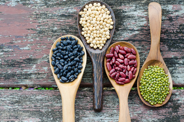 Nuts and legumes are healthy, but heavy. Measure portions correctly to avoid consuming excess calories
