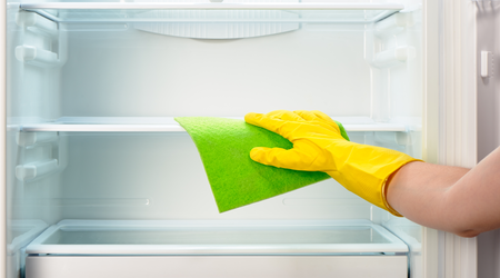 Remember to store perishable foods in a cooler while defrosting or cleaning your fridge.