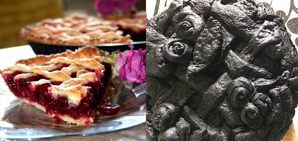 Burnt cherry pie