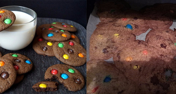 M & Ms cookies expectations vs/ reality