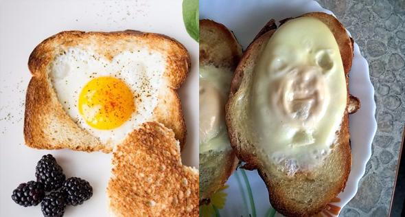 Egg sandwich failure