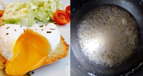 poached eggs failure
