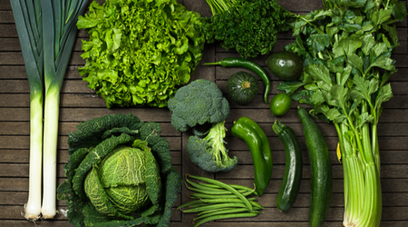 Vitamin E contained in dark leafy greens and vegetables protects the body from pro-inflammatory molecules called cytokines.