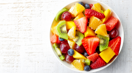 Fruit and berries can help reduce inflammation, because they are low in fat, but rich in fiber.