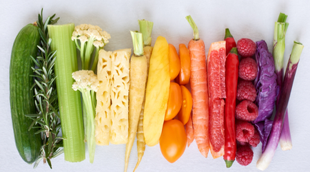 Choose foods of different shapes, colors, sizes and flavors to make your diet really healthy
