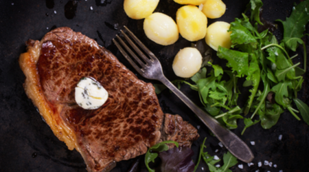 Chipotle compound butter is a great steak topping for fans of cilantro
