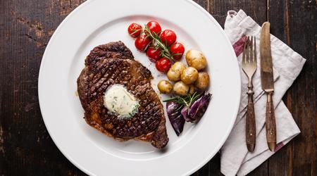 Garlic-sage steak topping is debatable, but certainly enjoyable