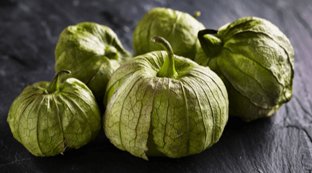 Tomatillos can ripen to acquire a yellow or even red color, but are usually harvested green