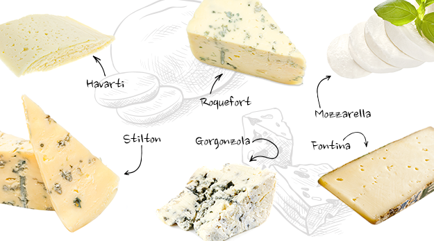 Semi-soft cheeses have a quite high moisture content and mostly have a mild taste.