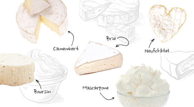 A subtype of soft cheeses are cream cheeses, which are not matured and contain at least 33% of milk fat.