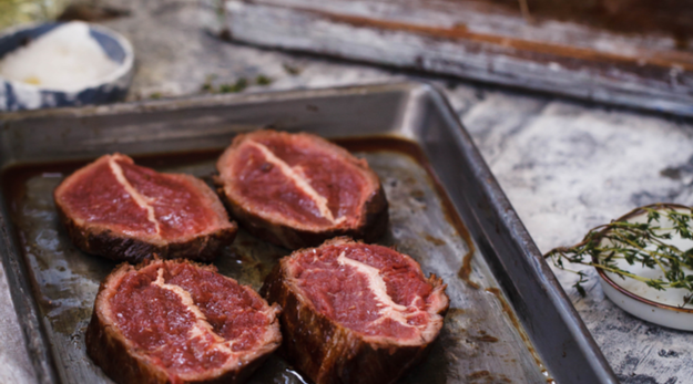Cook for 3 to 5 minutes, depending on thickness of steaks and degree of doneness you like.