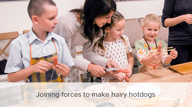 Hairy hotdogs are a fun dish to cook with kids