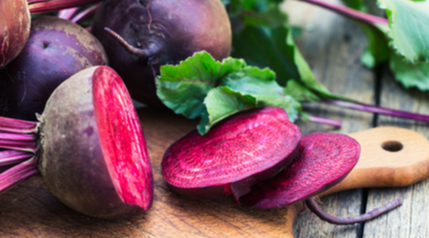 Beets are very good for digestive system and are low in calories. Bake them or boil them and use as garnish or in salads.