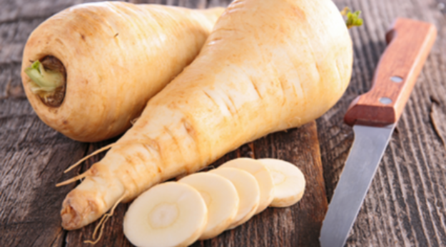 Delicate cousins of carrots, parsnips are starchier and denser than their brighter relatives, but can be cooked in a similar way and have a greater nutritional value!