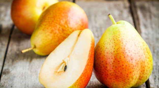 In January, poach pears in spiced wine or juice or cut them up with citrus and greens to make a fresh sala