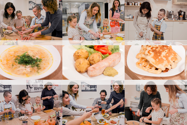 Cooking together helps families know each other better and become closer