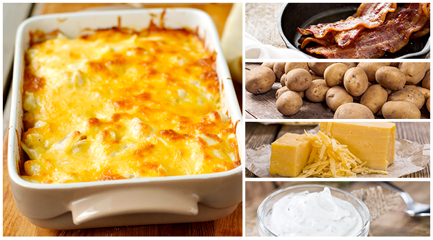 Baked Potato Casserole is a bigger version of the classic twice-baked potatoes