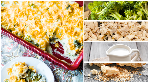 Broccoli Chicken Divan is a mild and delicious cheesy casserole