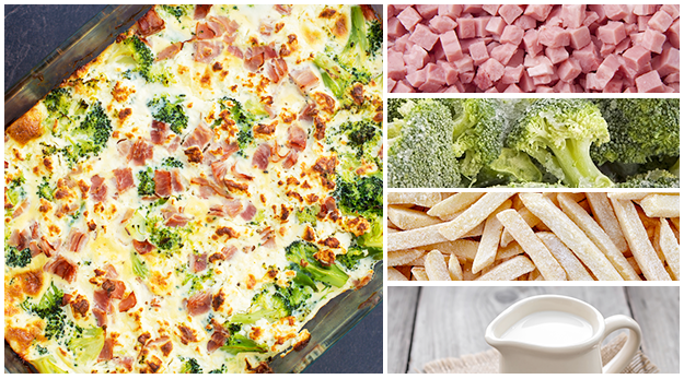 Ham, Broccoli, and Potato casserole is easy and healthy