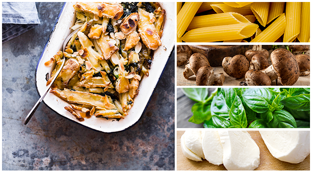 Portobello Penne bake is a great casserole for a family dinner!
