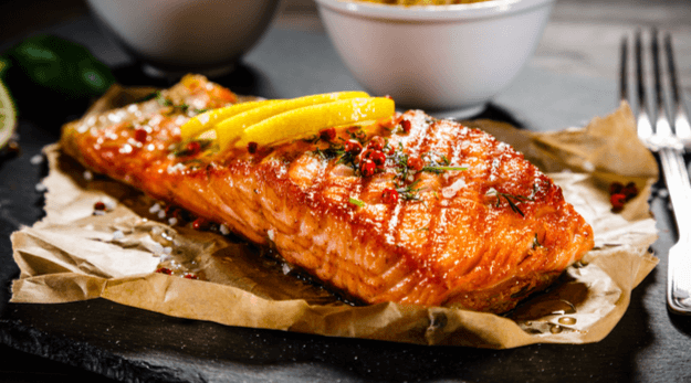 Fish should be cooked by grilling or baking