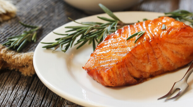 sugar glazed salmon fillet