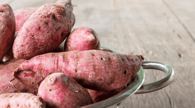 Sweet potatoes are in season in October. Get recipes to cook with sweet potatoes
